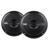 "DS18 HYDRO-65BK Marine Audio 6.5"" Inch 380 Watts Water Resistant Speakers"