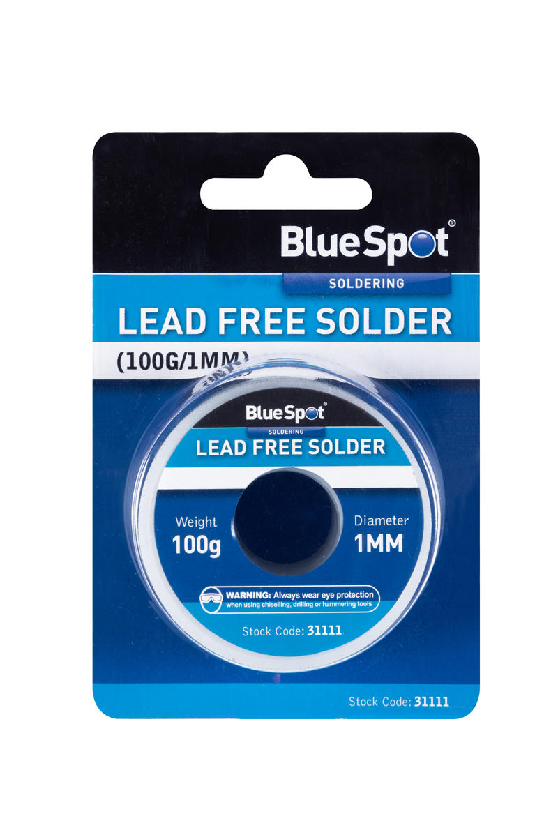 Automotive Lead Free Solder 100g 1mm Garage Electrical Bluespot Reel