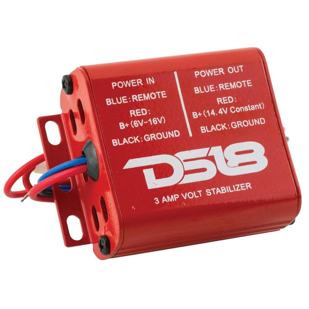 Car Audio 3a Amp Stabilizer DS18 6-16V Strong Performance High Reliability 3AVS