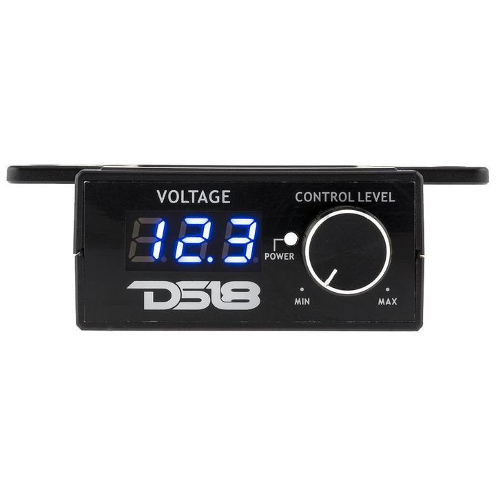 Car Audio Amplifier Bass Volume Control Volt Meter Remote Turn On DS18 BKVR