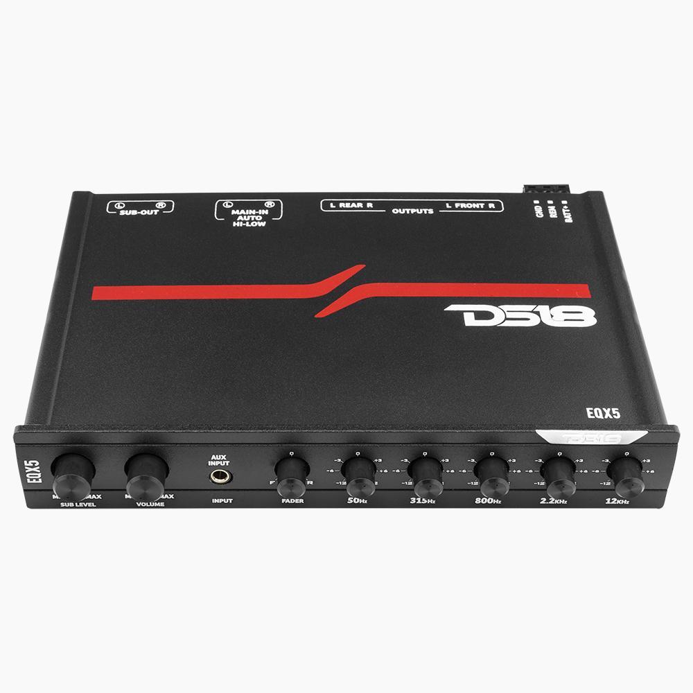 Car Audio Amplifier 1000 Watt 5 Band DS18 EQ High Level Input EQX5 Single