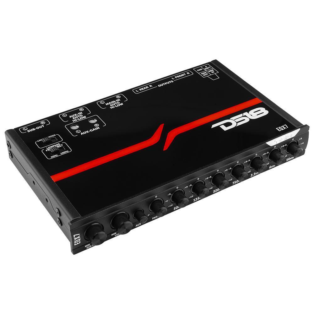 Car Audio Amplifier 7 Band DS18 EQ High Level Input EQX7 Single