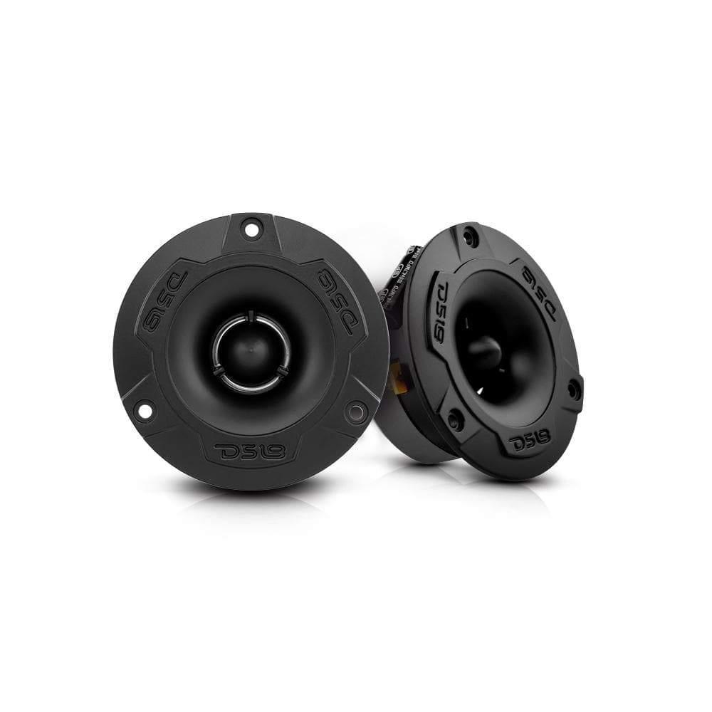 "Car Audio Tweeter 240 Watt 1"" Inch 4 ohm DS18 Super Bullet PRO-TWX1/BK Pair"