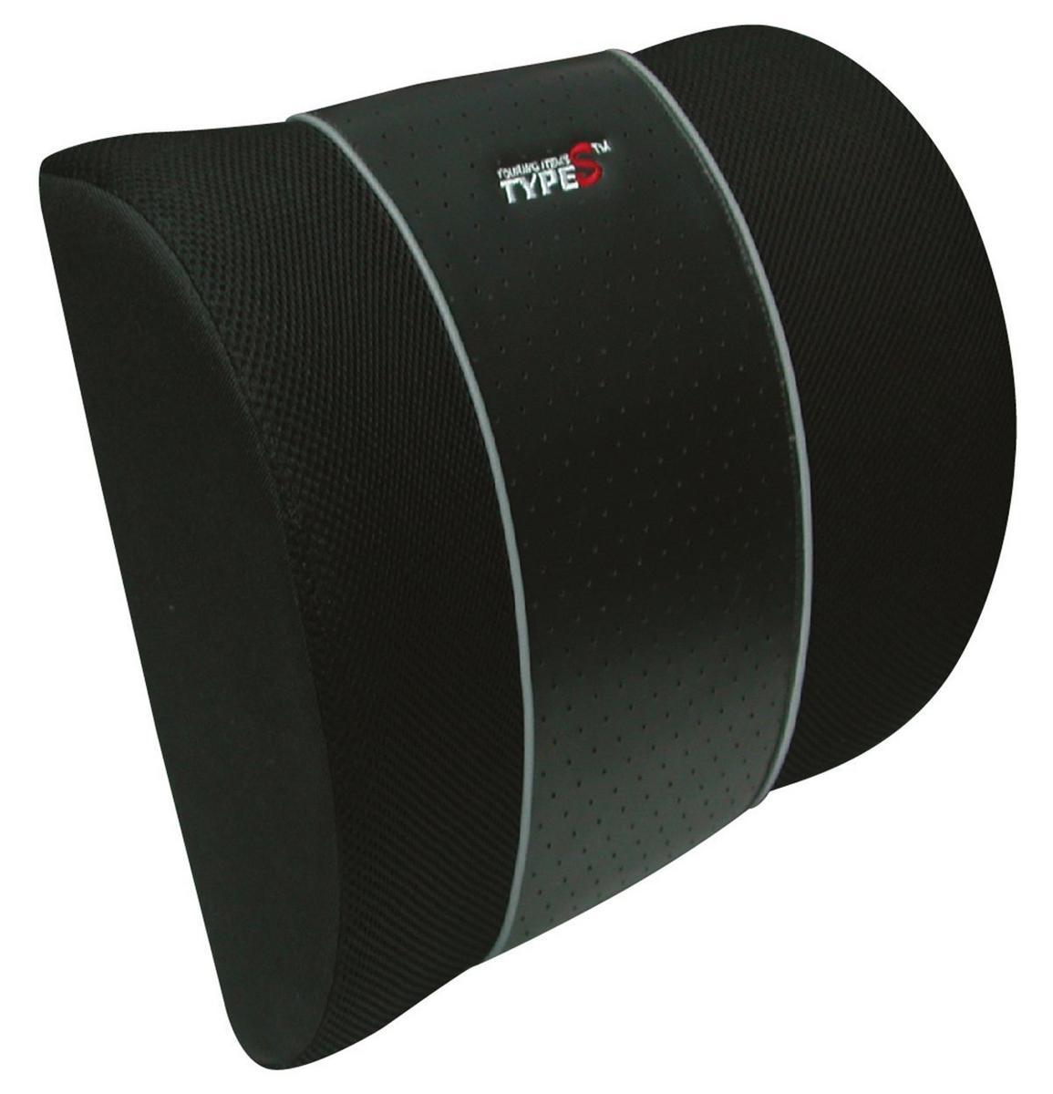 Type S CU11822 Black Classic Lumbar Support Cushion Single