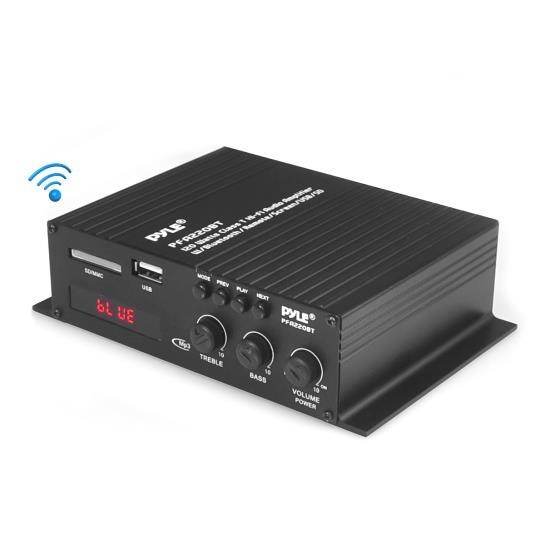 Pyle Compact Bluetooth 120 Watt Power Mini Amplifier Audio MP3/USB/SD 120 Watt