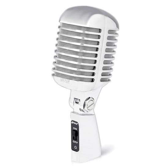 Pyle Pro Audio PDMICR68SL Dynamic Vocal Microphone Die Cast Metal Silver Color