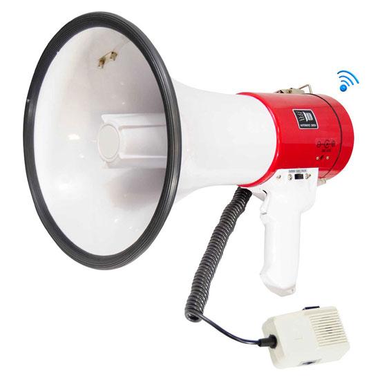 Pyle Bluetooth MP3 USB SD Loud Hailer Megaphone Siren Speaker Pistol Grip
