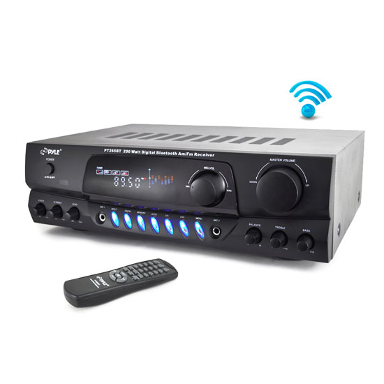 PYLE-HOME PT265BT AM FM BLUETOOTH RECEIVER