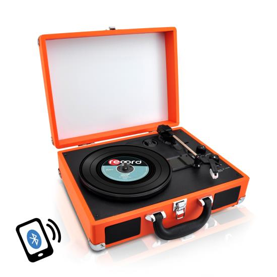 PYLE-HOME PVTTBT6OR TURNTABLE- SUITCASE B.T,  PC ENCODING