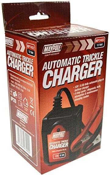 Maypole MP7402 0.5A Amp 6V/12V Volt Automatic Trickle Battery Charger Single