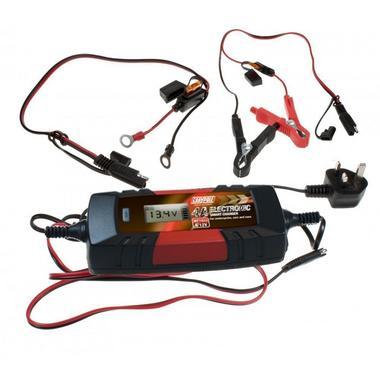 Maypole MP7423 Car Bike 6V 12V Volt 4A Amp None Gel Battery Charger Single Thumbnail 2