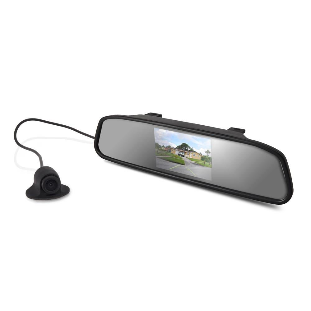 Pyle PLCM4340 Rear View Mirror Parking Revesing Back up Camera Assist System
