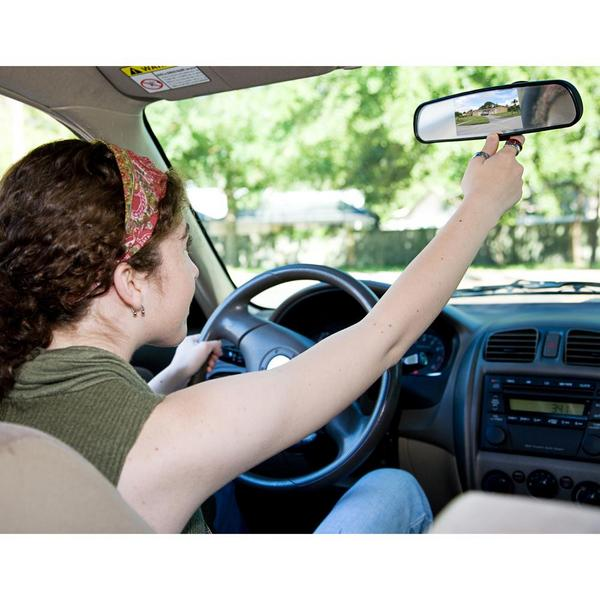 Pyle PLCM4340 Rear View Mirror Parking Revesing Back up Camera Assist System Thumbnail 6