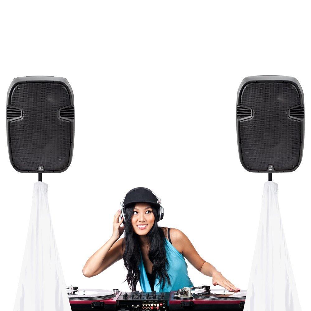 Pyle PSCRIMW2 DJ Speaker Light Tripod Stand Scrim Skirt Trim Universal Black
