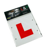 Learn or Pass L & P Driving Car Motorbike Stick Tie On Magnetic Easy Use Plates