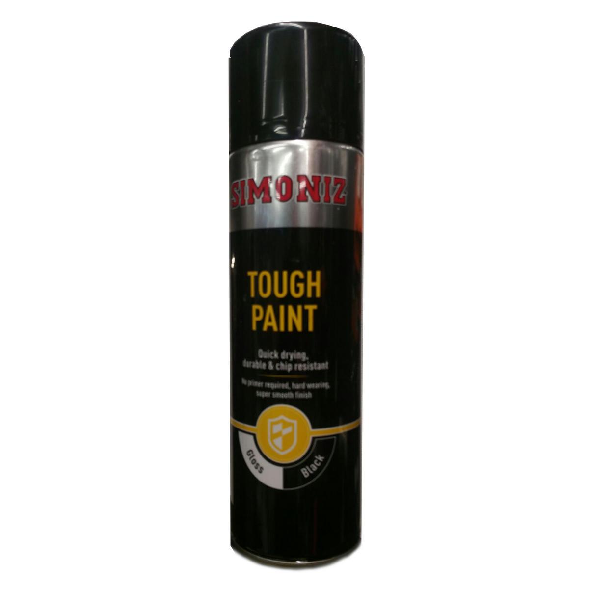 Simoniz HLSIMVHT52D Tough Gloss Black Spray Paint