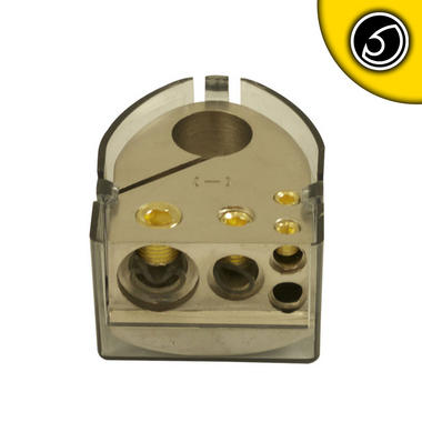 Bassface PBTN.1 Car Audio Battery Negative Terminal 1x0AWG 1x4AWG 2x8AWG Inputs Thumbnail 2