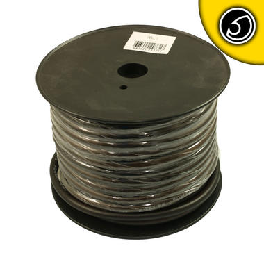 Bassface PWN4.1 CCA 4AWG 21mm Black Negative Wire Cable Spool 30m 1862 Strand Thumbnail 2