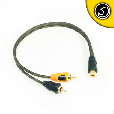 Bassface PRCYF.1 Pure OFC Twist RCA Phono Audio Cable Y Lead Splitter 1F 2M Thumbnail 2