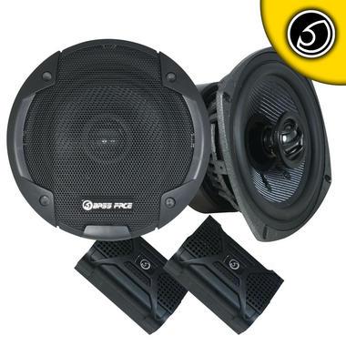 "Bassface BLACKSPL5.1 640w 5.25"" Inch 13cm SQ Coaxial 2Way Car Door Speakers Pair Thumbnail 2"