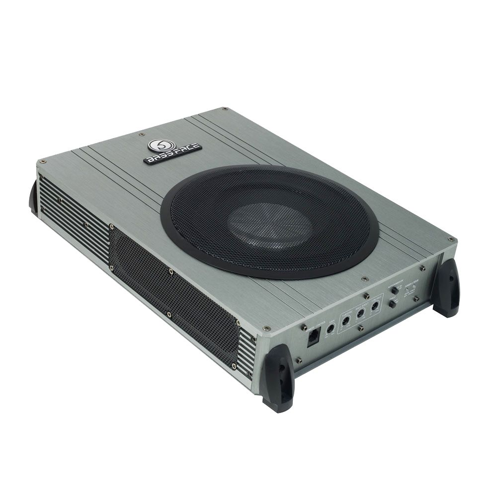"""Bassface POWER8.2 400w 8"""" Inch Active Slim Under Seat Compact Car Sub Bass Box"""
