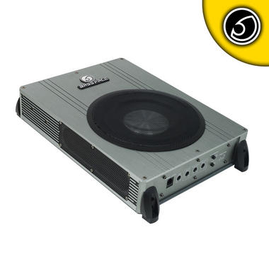 "Bassface POWER8.2 400w 8"" Inch Active Slim Under Seat Compact Car Sub Bass Box Thumbnail 1"