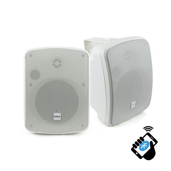 """Pyle Bluetooth Waterprooof Indoor Outdoor 5.25"""" 135mm 600 Watt White Speakers"""