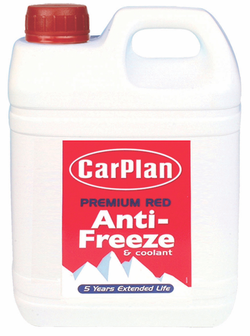 Carplan FSA002 2 Litre 5 Year Red Anti Freeze Coolant