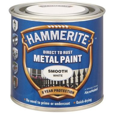 Hammerite 5084857 Smooth White 250Ml Thumbnail 1
