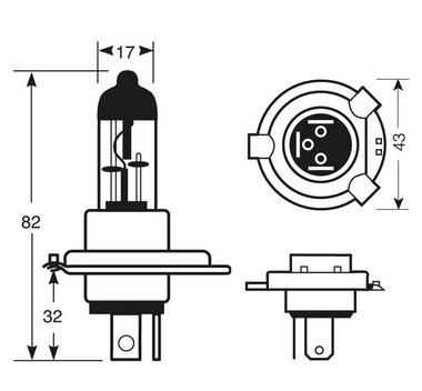 Ring Automotive RU472 Car Van 12V 60/55W H4 Headlamp Headlight Bulb Single Thumbnail 2