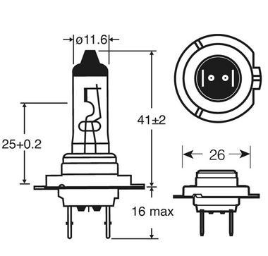 Ring Automotive RU477 Car Van 12V 55W H7 Headlamp Headlight Bulb Single Thumbnail 2
