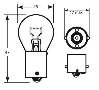 Ring Automotive RW382 Car Van 12V 21W P21W Brake Indicator Reverse Fog Bulbs Pair Thumbnail 2