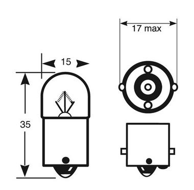 Ring Automotive RW207 Car Van 12V 5W R5W Side Tail Bulbs Pair Thumbnail 2