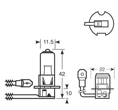 Ring Automotive RU453 Car Van 12V 55W H3 Headlamp Headlight Bulb Single Thumbnail 2