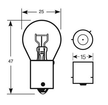 Ring Automotive RW581 Car Van 12V 21W PR21W Indicator Amber Bulbs Pair Thumbnail 2