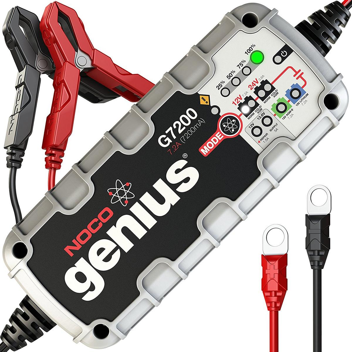 Noco Genius G7200UK 12v 24v 7.2 Amp Smart Car Van Bike ATV  Battery Charger