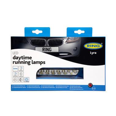 Ring BRL0398 12V 24V 18W Car Van Lyra Daytime Running Light Night Styling Pair Thumbnail 4