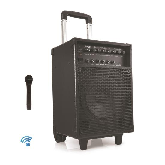 Pyle PWMA230BT 400W VHF Wireless Microphone Bluetooth Battery Portable PA System