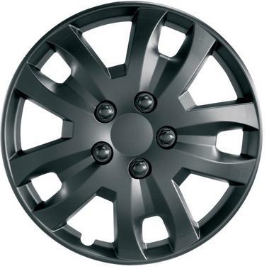 "Ring Automotive RWT1374 Car Van 13"" Jet Matt Black Wheel Trims Pack of 4 Thumbnail 1"