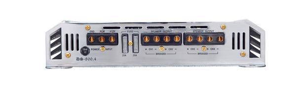 DS18 DS-800.4 GEN Series Car Audio 4 Channel Stereo 800 Watt Amplifier Thumbnail 2