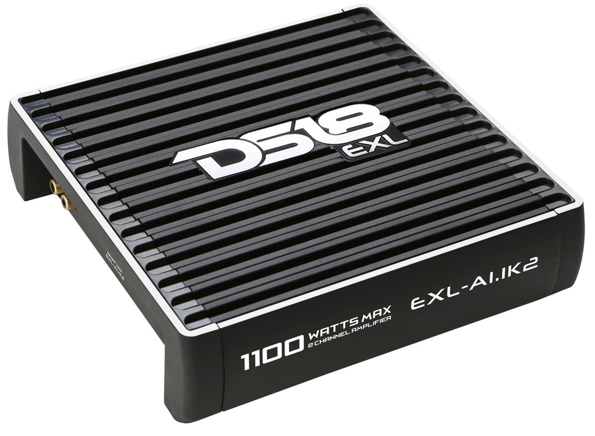 DS18 EXL-A1.1K2 EXL Series Car Audio 2 Channel Stereo 1100 Watt Amplifier