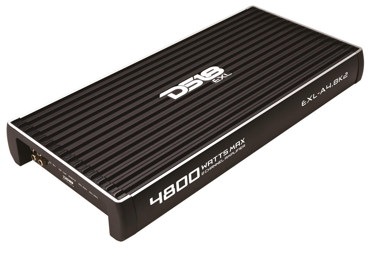 DS18 EXL-A4.8K2 EXL Series Car Audio 2 Channel Stereo 4800 Watt Amplifier