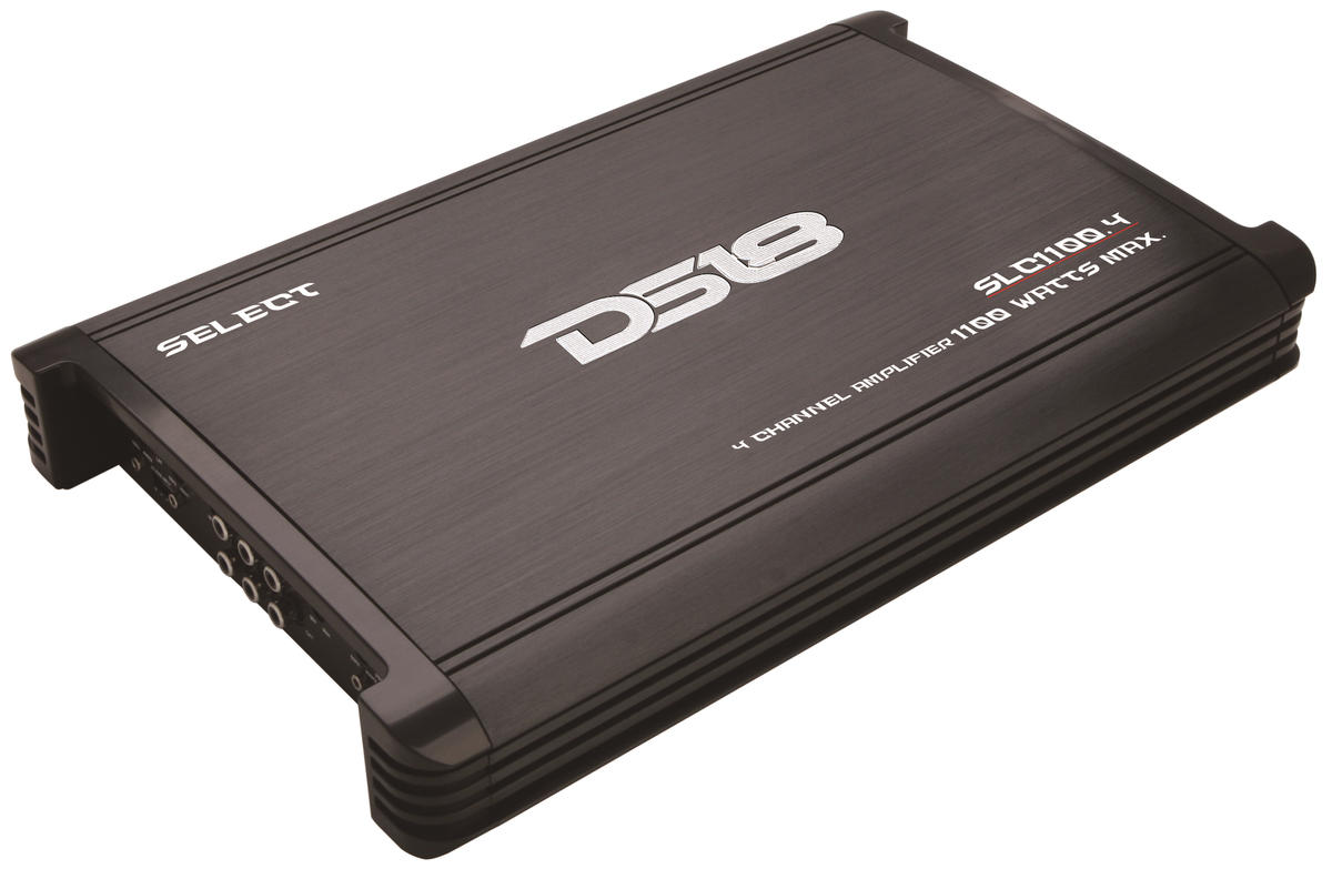 DS18 SLC1100.4 Select Series Car Audio 4 Channel Stereo 1100 Watt Amplifier