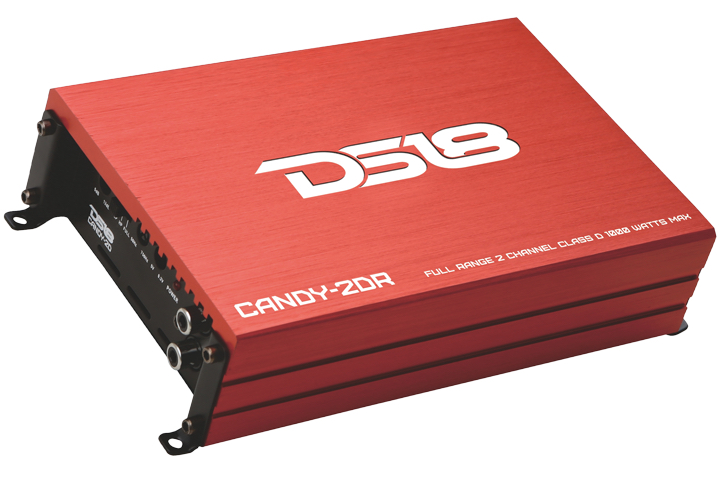 DS18 CANDY-2DR Candy Series Car Audio 2 Channel Stereo 1000 Watt Amplifier