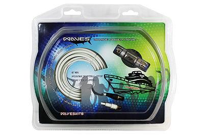 DS18 WAVESKIT4 Marine Grade 4 Gauge Amp Amplifier Complete Audio Wiring Kit