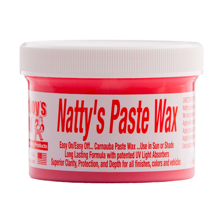 Poorboys PB-NPR08 Car Cleaning Valeting Nattys Paste Wax Red 235ml