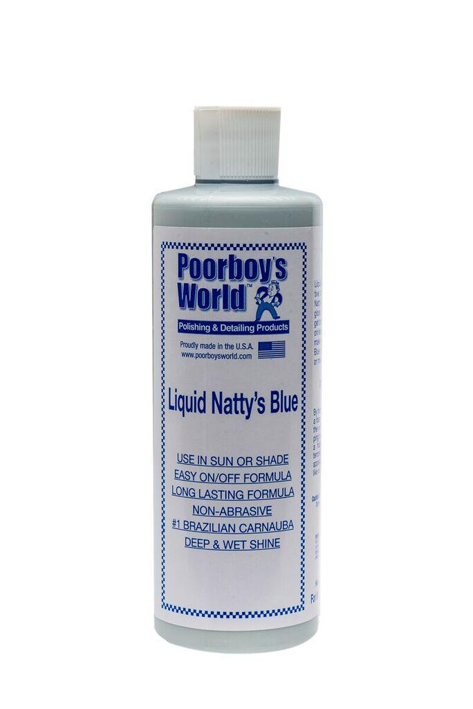 Poorboys PB-LNB16 Car Cleaning Valeting Liquid Nattys Blue Wax 473ml