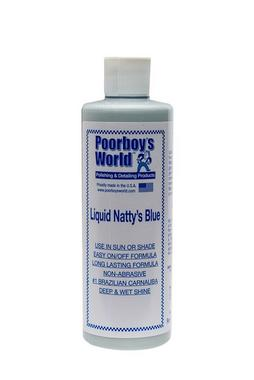 Poorboys PB-LNB16 Car Cleaning Valeting Liquid Nattys Blue Wax 473ml Thumbnail 1