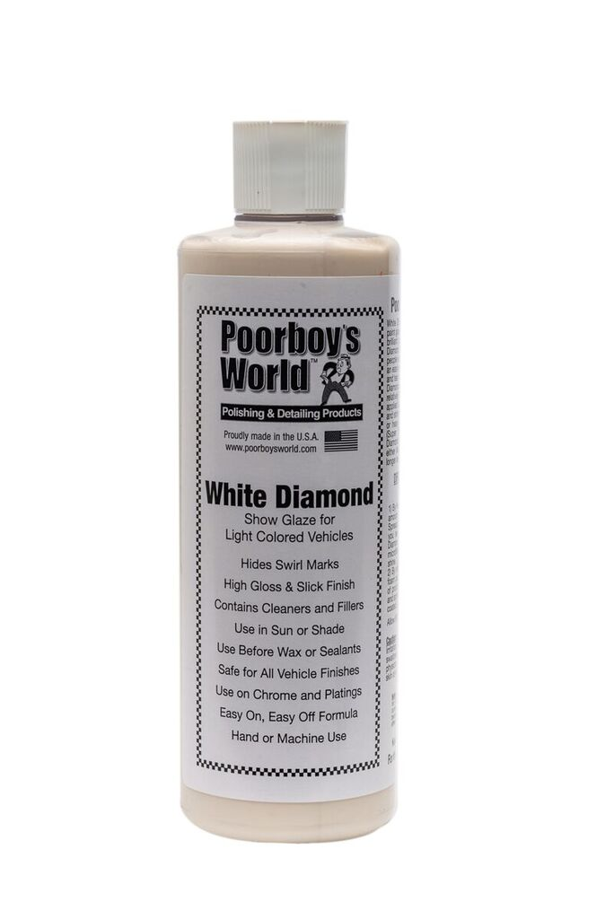 Poorboys PB-WD16 Car Cleaning Valeting Polishing Wax White Diamond 473ml