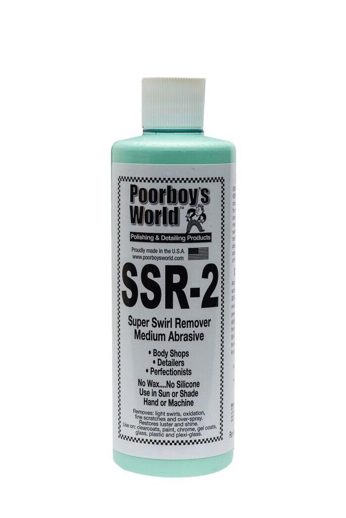 Poorboys PB-SR216 Car Cleaning Valeting Polish Super Swirl Remover SSR 2.0 473ml